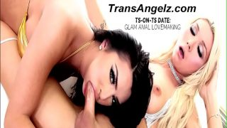 TS Natalie in her first interracial anal with Sean Michaels